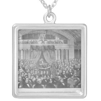 Daniel Webster addressing the United States Silver Plated Necklace