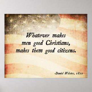 Daniel Webster Christian Poster