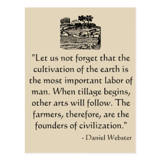 Daniel Webster Quote Postcard