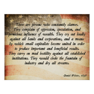 Daniel Webster Quote Poster