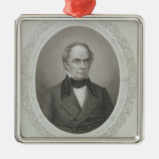 Daniel Webster Silver-Colored Square Decoration