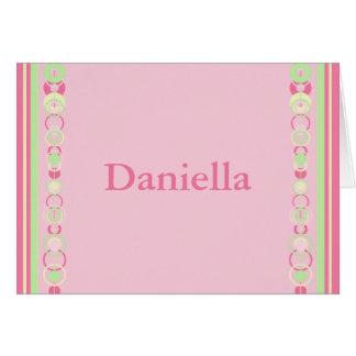 Daniella Modern Circles Name Card