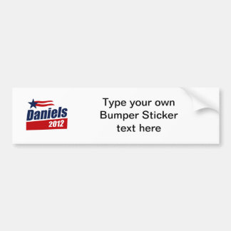 DANIELS 2012 BANNER BUMPER STICKERS