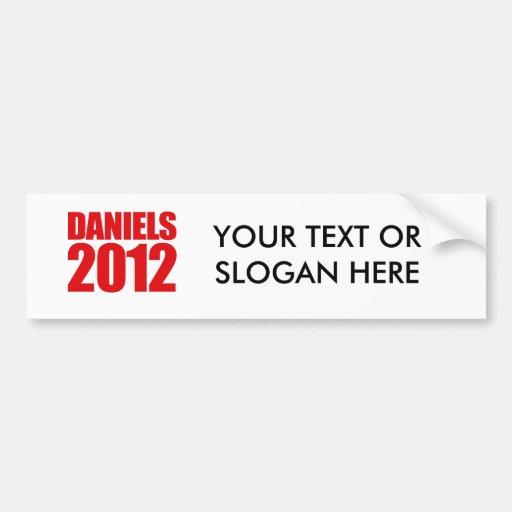 DANIELS 2012 - BUMPER STICKER