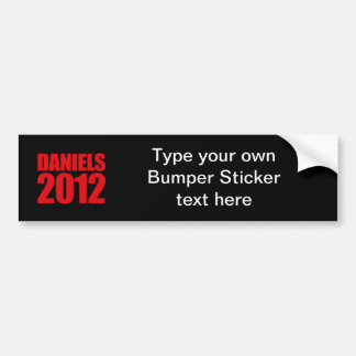 DANIELS 2012 - BUMPER STICKERS