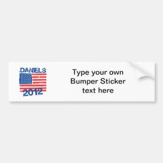 DANIELS 2012 FLAG BUMPER STICKERS