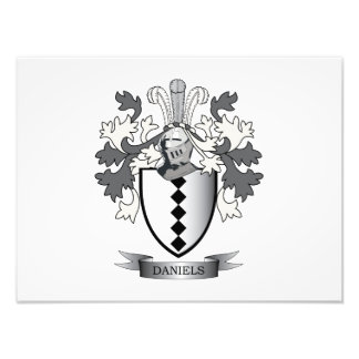 Daniels Family Crest Coat of Arms Photograph
