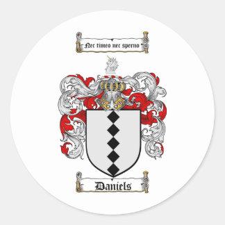 DANIELS FAMILY CREST -  DANIELS COAT OF ARMS STICKERS