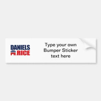DANIELS RICE TICKET 2012 BUMPER STICKERS