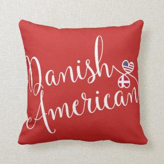 Danish American Entwined Hearts Throw Cushion