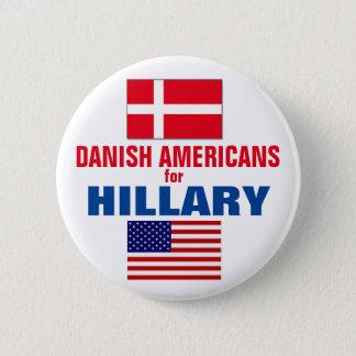 Danish Americans for Hillary 2016 6 Cm Round Badge