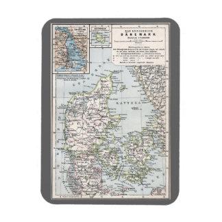 Danish Antique Map of Denmark, Danmark Rectangular Photo Magnet
