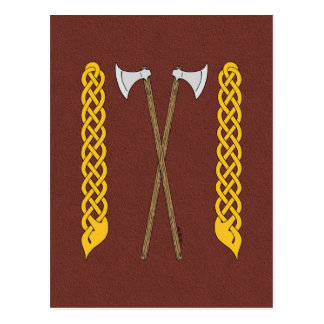 Danish Axes Crossed with Plaitwork Postcard