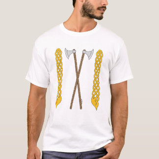 Danish Axes Crossed with Plaitwork T-Shirt