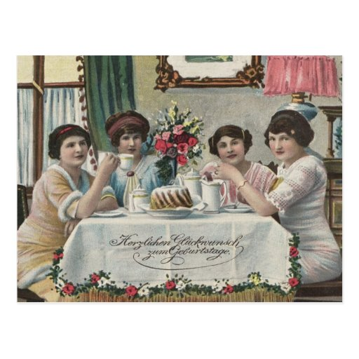 Danish Birthdays - Fodseldag Post Card