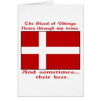 Danish Blood & Beer Viking Card