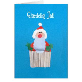 Danish Christmas 'Cupcake with Santa' Card