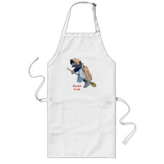 """""""Danish Cook"""" Kitchen Witch Riding Spoon apron"""