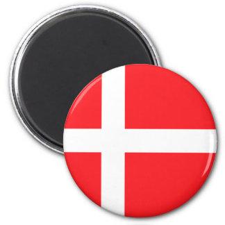 Danish Flag 6 Cm Round Magnet