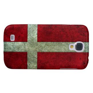 Danish Flag Aged Steel Effect Galaxy S4 Case