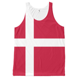 Danish flag All-Over print tank top