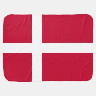 Danish flag baby blanket