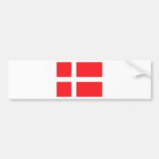 Danish Flag Bumper Sticker