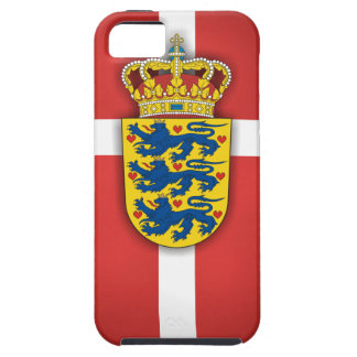 Danish Flag & Coat of Arms Tough iPhone 5 Case