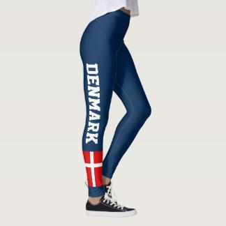 Danish flag custom dark leggings for Denmark