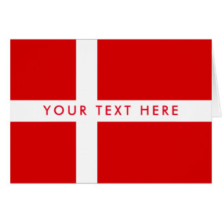 Danish flag custom greeting card for Denmark