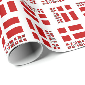 Danish Flag Danmark Dannebrog Wrapping Paper