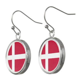 Danish flag earrings