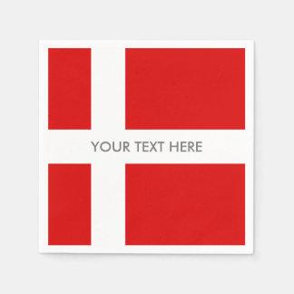 Danish flag of Denmark custom party napkins Paper Napkin