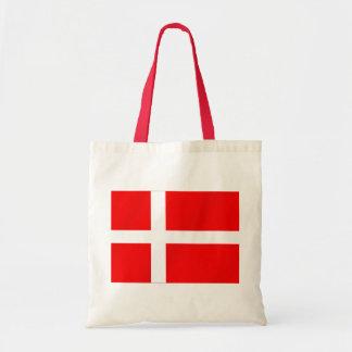 Danish flag of Denmark for Danes Tote Bags