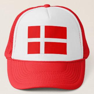 Danish flag of Denmark for Danes Trucker Hat