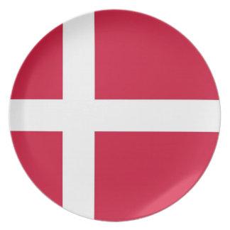 Danish Flag Plate