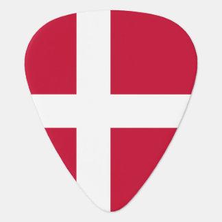 Danish flag plectrum
