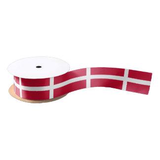 Danish flag ribbon satin ribbon