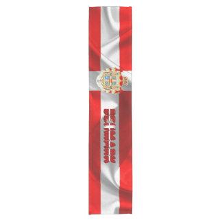 Danish flag short table runner