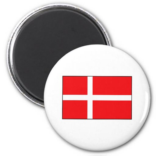 Danish Flag T-shirts and Gifts 6 Cm Round Magnet