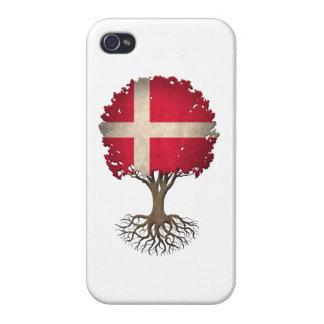 Danish Flag Tree of Life Customizable iPhone 4/4S Case