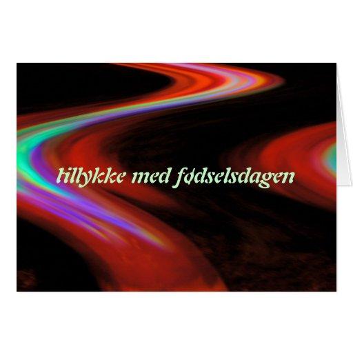 Danish Happy Birthday Card