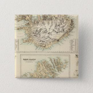 Danish Islands in the North Atlantic Ocean 15 Cm Square Badge