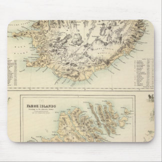 Danish Islands in the North Atlantic Ocean Mouse Mat