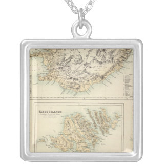 Danish Islands in the North Atlantic Ocean Silver Plated Necklace