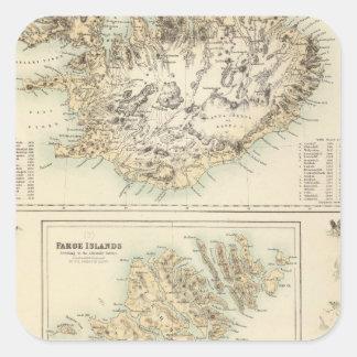 Danish Islands in the North Atlantic Ocean Square Sticker