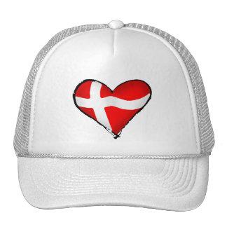 Danish love for Denmark fans worldwide Trucker Hats