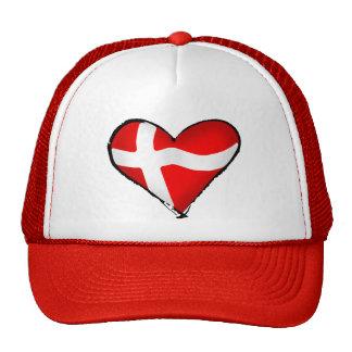 Danish love for Denmark fans worldwide Trucker Hat
