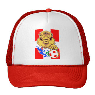 Danish or Swiss African Soccer Lion Hats