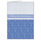 Danish Periwinkle, Faux Lace, Polka Dots Birthday Card